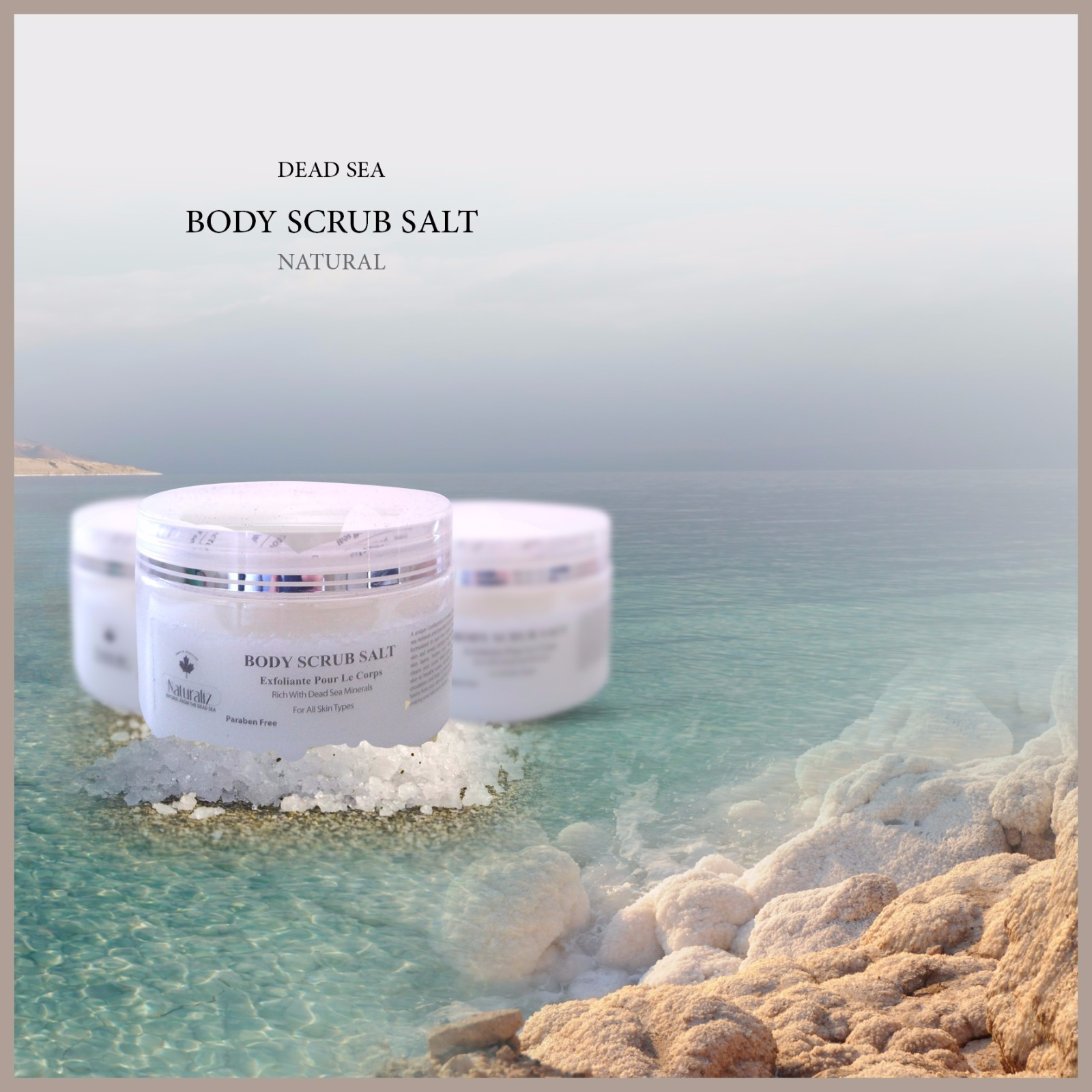 Body Scrub Salt Natural