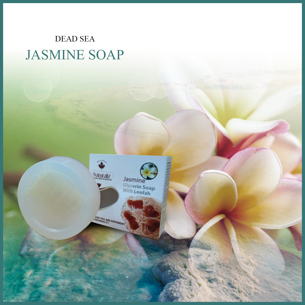 Glycerin Soap With Loofah-Jasmine