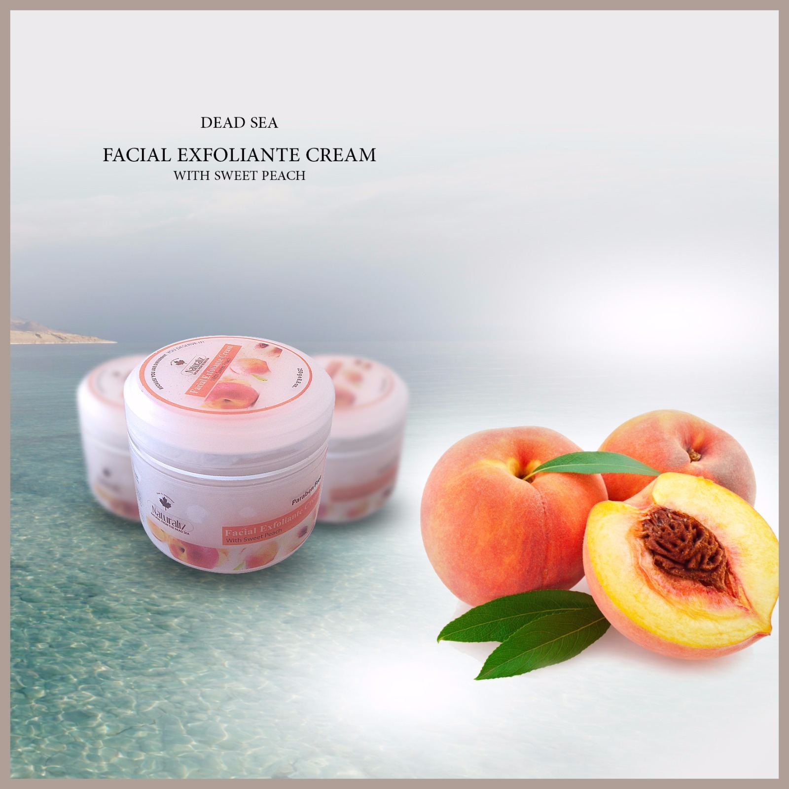 Facial Exfoliante Cream With Sweet Peach