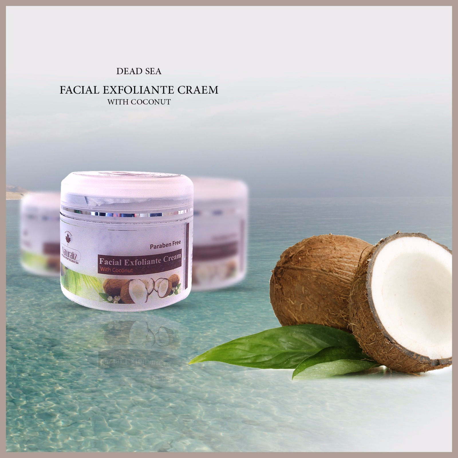 Facial Exfoliante Cream With Coconut